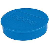 Nobo Whiteboard Magnets 38mm Blue Pack of 10 1915313