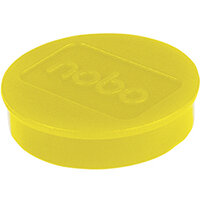 Nobo Whiteboard Magnets 38mm Yellow Pack of 10 1915316