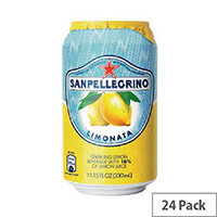 San Pellegrino Lemon Sparkling Can 330ml (Pack 24)