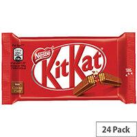 Nestle KitKat Four Finger Milk Chocolate Pack of 24 12351222