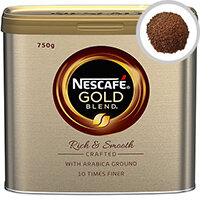 Nescafe Gold Blend Instant Coffee 750g, Caramel Flavors and Juicy Aroma, Instant Coffee Granules (Pack of 1) 12284102