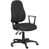 OA Series High Back High Back Operator Office Chair Black Fabric with Fixed Arms