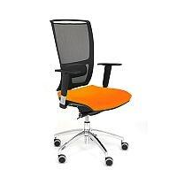 Ergonomic Mesh Task Operator Office Chair With Lumbar Support & Adjustable Arms Black/Orange OZ Series