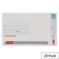 GoSecure Bubble Lined Envelope Size 7 230x340mm White Pack of 20 PB02129
