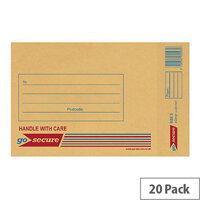 GoSecure Bubble Lined Envelope Size 3 150x215mm Gold Pack of 20 PB02151