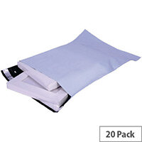GoSecure Extra Strong Polythene Envelopes C4 Grey Peel and Seal Pack 20