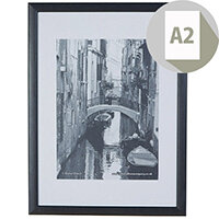 Photo Album Company A2 Black Wood Frame Perspex Non-Glass, Ideal for Posters & Notices, 22mm Moulding, Suitable For Wall Mounting Only