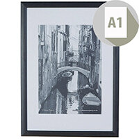 Photo Album Co A1 Black Wood Frame Non Glass