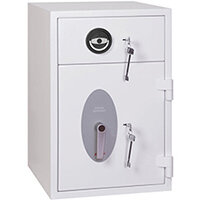 Phoenix Diamond Deposit HS1090KD 44L Security Safe With Key Lock White