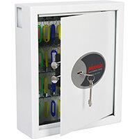 Phoenix Cygnus Key Deposit Safe KS0032K With 48 Key Hooks Key Lock & Deposit Slot White