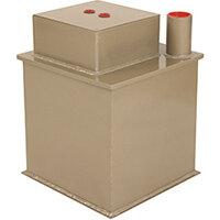 Phoenix Tarvos UF0623KD 12'' 25L 2K Underfloor Security Safe with Key Lock & Deposit Slot Gold
