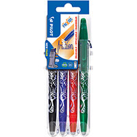 Pilot FriXion Set2Go Rollerball Pens Assorted Pack of 4 3131910546795