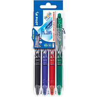 Pilot FriXion Set2Go Rollerball Click Assorted Pack of 4 3131910546801