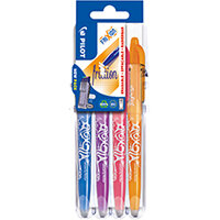 Pilot Set2Go FriXion Rollerball 07 Pens Assorted Pack of 4 3131910551584