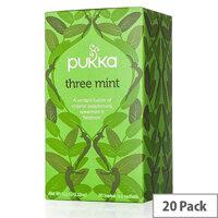 Pukka Three Mint Tea Organic Bags (Pack of 20) P5025