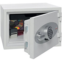 Phoenix Titan FS1302E Size 2 Fire & Security Safe with Electronic Lock White 20L 60min Fire Protection