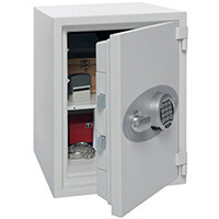 Phoenix Titan FS1303E Size 3 Fire & Security Safe  with Electronic Lock White 28L 60min Fire Protection