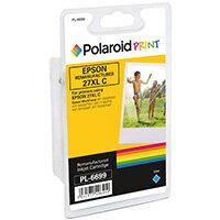 Polaroid Epson 27XL Remanufactured Inkjet Cartridge Cyan T271240-COMP PL