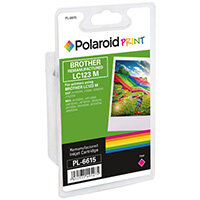 Polaroid Brother LC123M Remanufactured Inkjet Cartridge Magenta LC123M-COMP PL