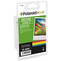 Polaroid Brother LC223C Remanufactured Inkjet Cartridge Cyan LC223C-COMP PL
