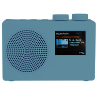 DAB Radio FM - Portable - Line-in, Phones Out, Alarm, Kitchen Timer, Color Screen, AC 220v Powered, Battery Powered