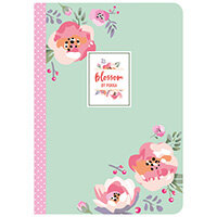Pukka Pad Blossom Stitched Exercise Book A5 Pack of 3 86520-BLO