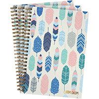 Pukka Feathers Hardback Notebook B5 Blue Pack of 3 9379-CD