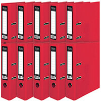 Pukka Brights Lever Arch File A4 Red Pack of 10 BR-7758