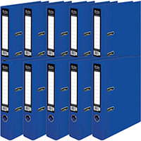 Pukka Brights Lever Arch File A4 Navy Pack of 10 BR-7996