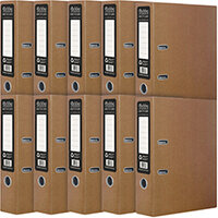 Pukka Recycled Lever Arch A4 Kraft Pack of 10 RF-9483