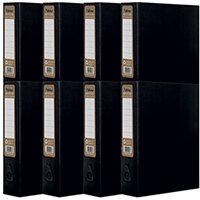 Pukka Recycled Box File Black Pack of 8 RF-9486