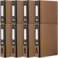 Pukka Recycled Box File Kraft Pack of 8 RF-9487