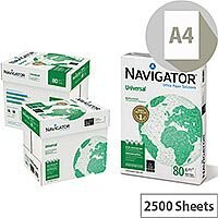 Navigator Universal A4 80gsm White Printer Paper Box of 2500 Sheets