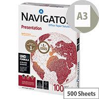 Navigator A3 Presentation Paper 100gsm Pack of 500 NAVA3100