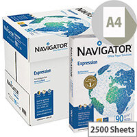 Navigator Expression Printer Paper A4 90gm White 2500 Sheets