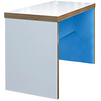 Frovi BLOCK Small Colour Panel Bench Poseur Table With 2 Tone Laminate Colours W1300xD700xH1050mm