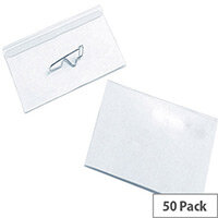 Pin Name Badge 54x90mm Pack of 50
