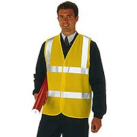 Proforce High Visibility Vest 2-Band Waistcoat Yellow XX Large HV08YL560