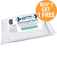 PrimeGuard Chlorhexidine Anti-bacterial Hand Wipes 25 Wipes Per Pack
