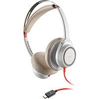 Poly Blackwire 7225 BW7225 Headset USB-C Corded WW White 211155-01