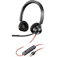 Poly Blackwire 3320 BW3320-M Headset USB-A Corded Black 214012-01