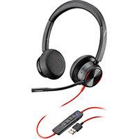 Poly Blackwire 8225 BW8225-M Headset USB-A WW Corded 214408-01