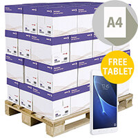 Pallet Of Xerox Premier High Performance A4 White Printer Paper 80gsm 200 Reams Per Pallet FREE Tablet