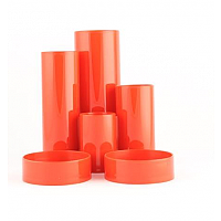 Desk Tidy Red 6 Compartment Tubes Q-Connect