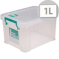StoreStack Clear 1 Litre Storage Box W180 x D110 x H90mm RB00814