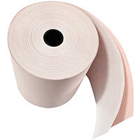 Prestige Till Rolls 2-Ply 76mm White/Pink Pack of 20 RE05520