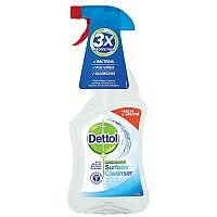 Dettol Anti-Bacterial Surface Cleanser Spray 750ml. Perfect For Everyday Use Killing 99.9% Of Bacteria. Doesn't Contain Bleach Making It Safe For Use In Your Kitchen, On Chopping Boards, Baby Equipment & More.