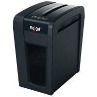 Rexel Secure X10-SL Cross Cut Slim Shredder 2020127, Shreds up to 10x A4 Sheets (80 gsm) at Once, Cross-Cut P-4 DIN Security Level, 18L Bin Capacity, 6 Minutes Run Time, Colour: Black