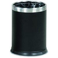 Rubbermaid Executive Series Hide-A-Bag Open-Top Waste Bin 13.2L Black