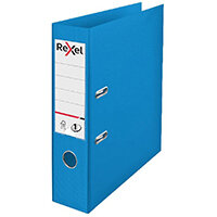Rexel Choices 75mm Lever Arch File Polypropylene A4 Blue 2115503